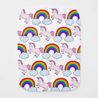 Cute Rainbow and Unicorn Burp Cloth