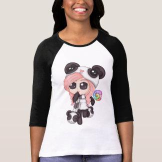 Cute Rainbow Anime Panda Girl Tshirts