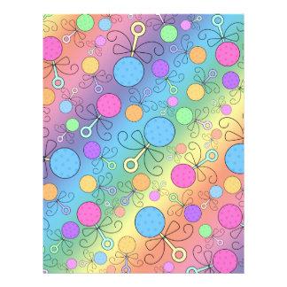 Cute rainbow baby rattle pattern flyer