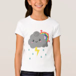 Cute Rainbow Behind Every Dark Cloud, For Her T-shirt