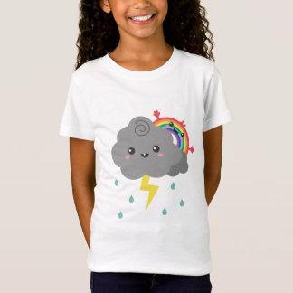 Cute Rainbow Behind Every Dark Cloud, For Her T-Shirt