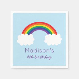 Cute Rainbow Birthday Disposable Napkins