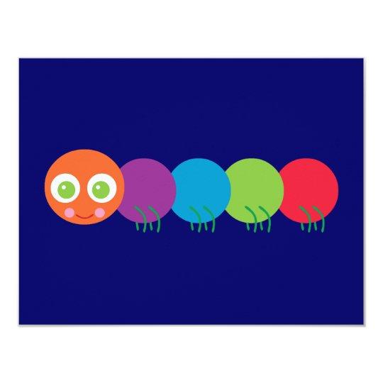 Cute Rainbow Caterpillar Card