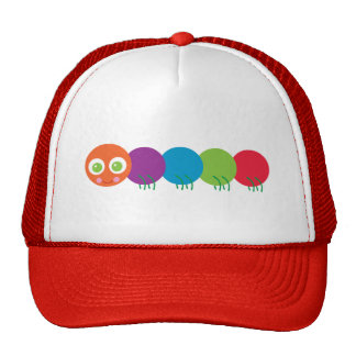 Cute Rainbow Caterpillar Trucker Hat