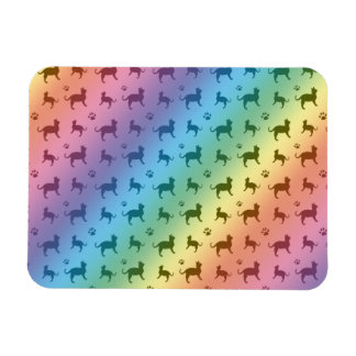 Cute rainbow cats and paws pattern vinyl magnet