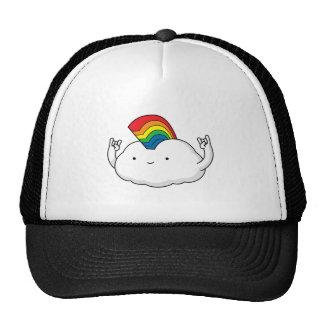 Cute Rainbow Cloud Rave Cartoon Cap