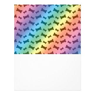 Cute rainbow dog bones pattern 21.5 cm x 28 cm flyer