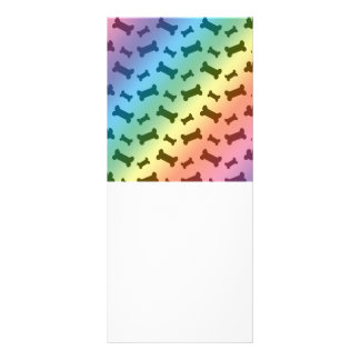 Cute rainbow dog bones pattern rack cards