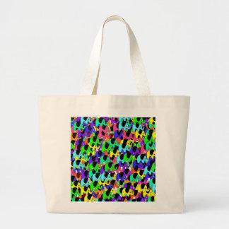 Cute rainbow elephants jumbo tote bag
