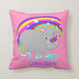 Cute Rainbow Fantasy Chubby Unicorn Fun Novelty Cushion
