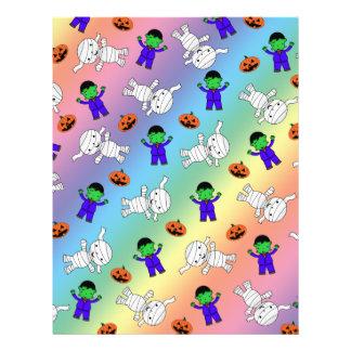 Cute rainbow Frankenstein mummy pumpkins Personalized Flyer