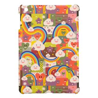 Cute rainbow harajuku illustration pattern iPad mini cover