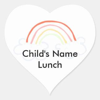 Cute Rainbow Heart Sticker