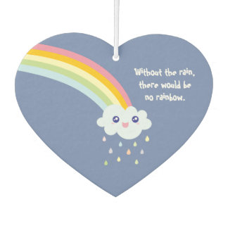 Cute Rainbow Inspirational and Motivational Quote Car Air Freshener