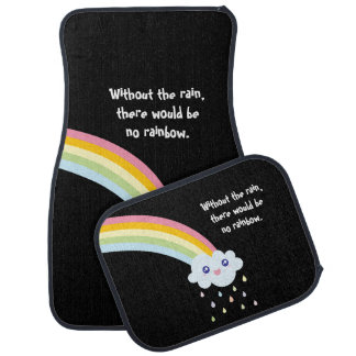 Cute Rainbow Inspirational and Motivational Quote Car Mat