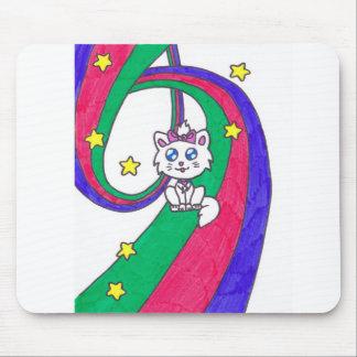 Cute Rainbow Kitten Mousepads