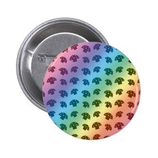 Cute rainbow mushroom pattern 6 cm round badge