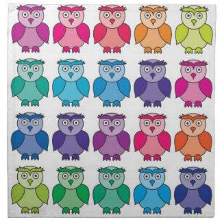 Cute Rainbow Owl Pattern Napkin