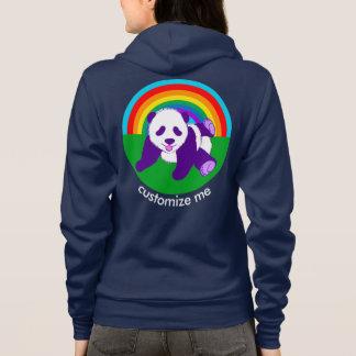 Cute Rainbow Panda Bear Custom Hoodie