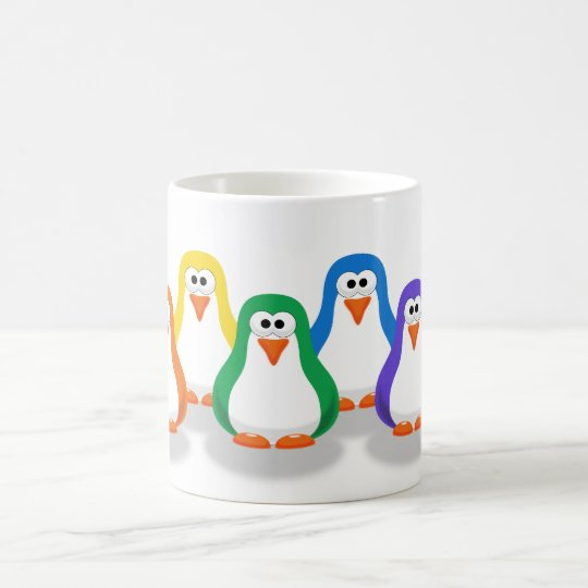 Cute Rainbow Penguins Mug