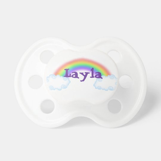 CUTE Rainbow Personalised Pacifer Baby Pacifier