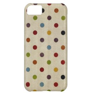 cute rainbow polka dot pattern iPhone 5C case