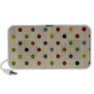cute rainbow polka dot pattern mini speaker