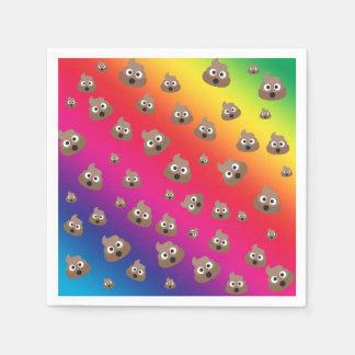 Cute Rainbow Poop Emoji Pattern Disposable Serviettes