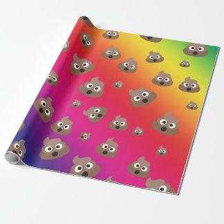 Cute Rainbow Poop Emoji Pattern Wrapping Paper