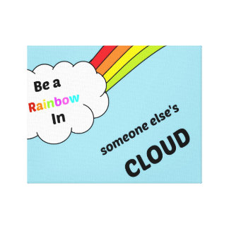 cute_rainbow_quote gallery wrapped canvas