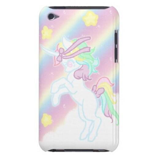 Cute Rainbow Unicorn Barely There iPod Cover