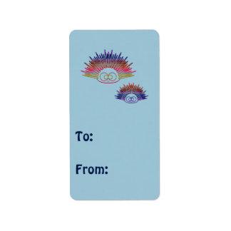 Cute Rainbow Urchins Address Label