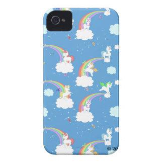 Cute Rainbows and Unicorns iPhone 4 Case