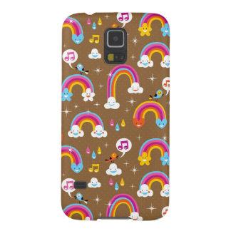cute rainbows pattern galaxy s5 covers