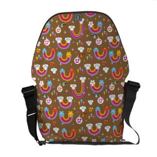 cute rainbows pattern messenger bag