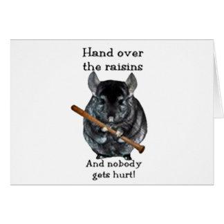 Cute Raisin Mean Chinchilla Greeting Card