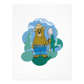 cute ranger bear flyer design