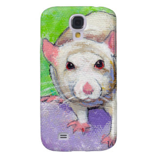 Cute rat art fun colorful pet painting white rats galaxy s4 cases