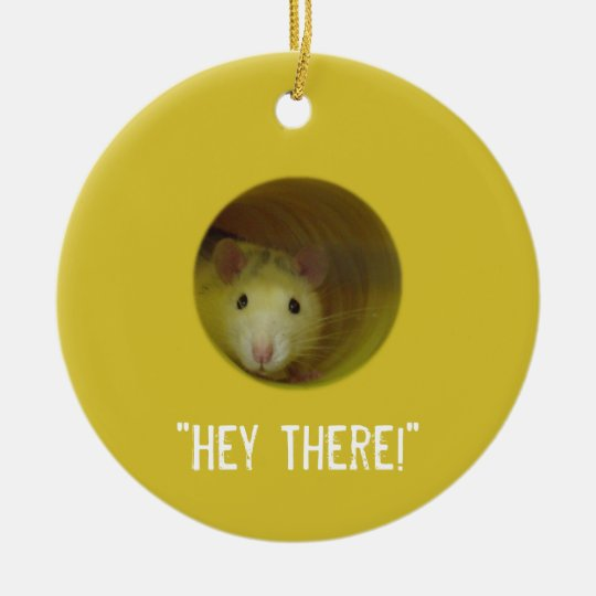 Cute Rat in a Hole Funny Animal Christmas