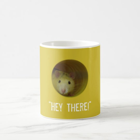 Cute Rat in Hole Funny Animal Coffee Mug