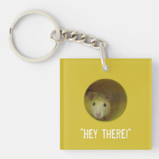 Cute Rat in Hole Funny Animal Key Ring
