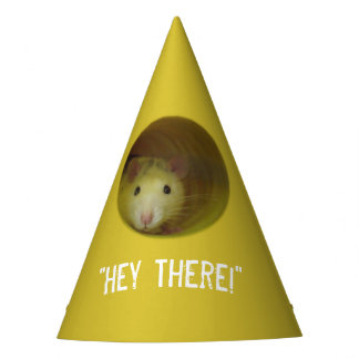 Cute Rat in Hole Funny Animal Party Hat