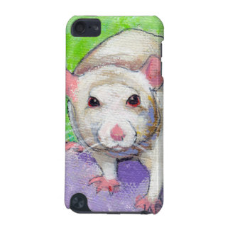 Cute rat listening fun colorful pet art white rats iPod touch (5th generation) covers