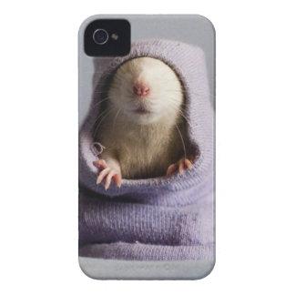 cute rat peek a boo iPhone 4 Case-Mate case