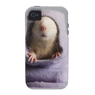 cute rat peek a boo vibe iPhone 4 cover