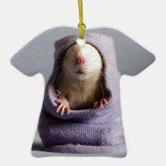 cute rat peek a boo ceramic T-Shirt decoration