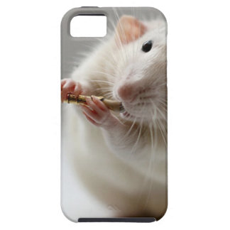 Cute rat playing flute iPhone 5 cases