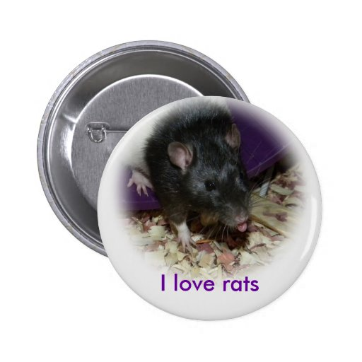 Cute rat sticking out his tongue pin