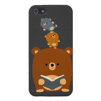 Cute Reading Bear & Cubs iPhone 5 Case Savvy