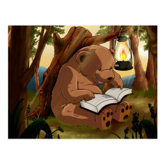 Cute Reading Bear Postcard